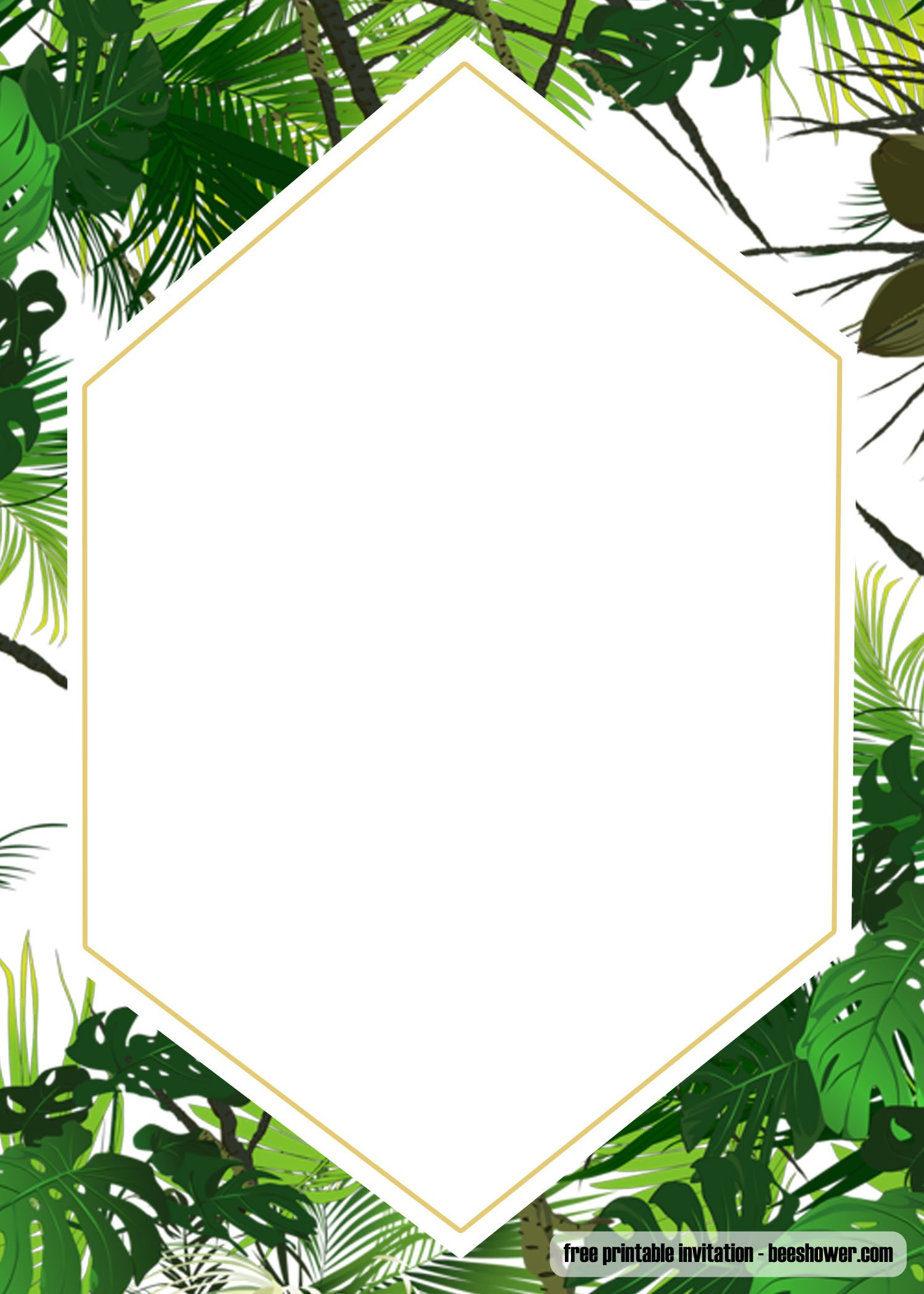Free Printable Tropical Baby Shower Invitation Template
