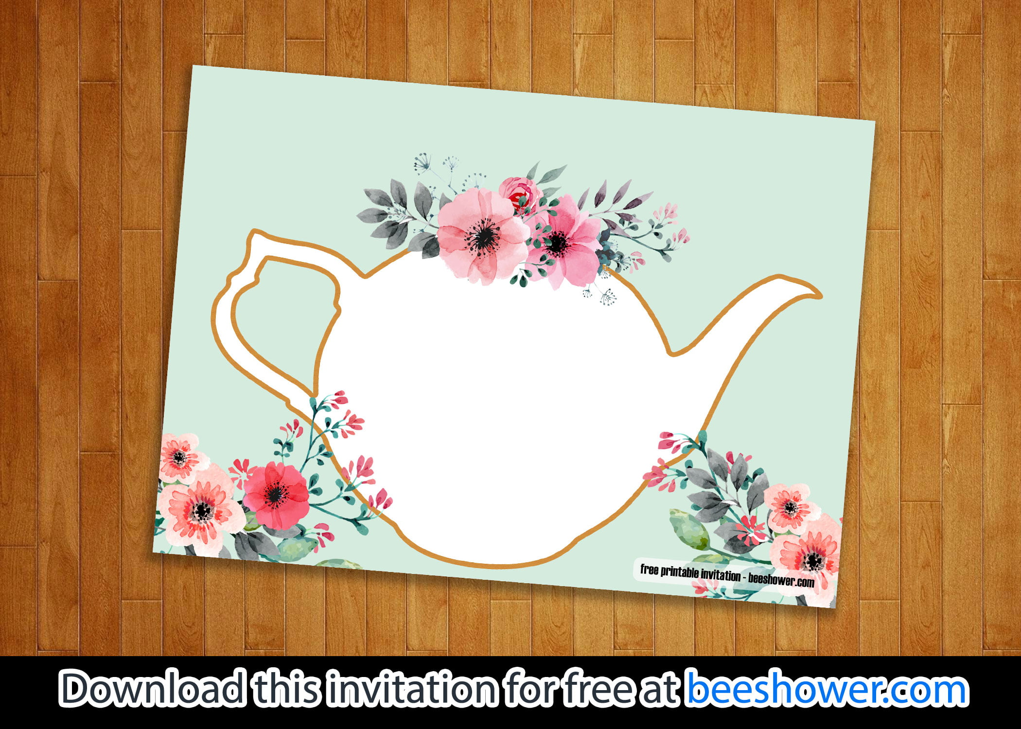 free printable tea party baby shower