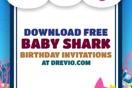 Free Printable Baby Shark Invitation Templates Free Printable Baby Shower Invitations Templates