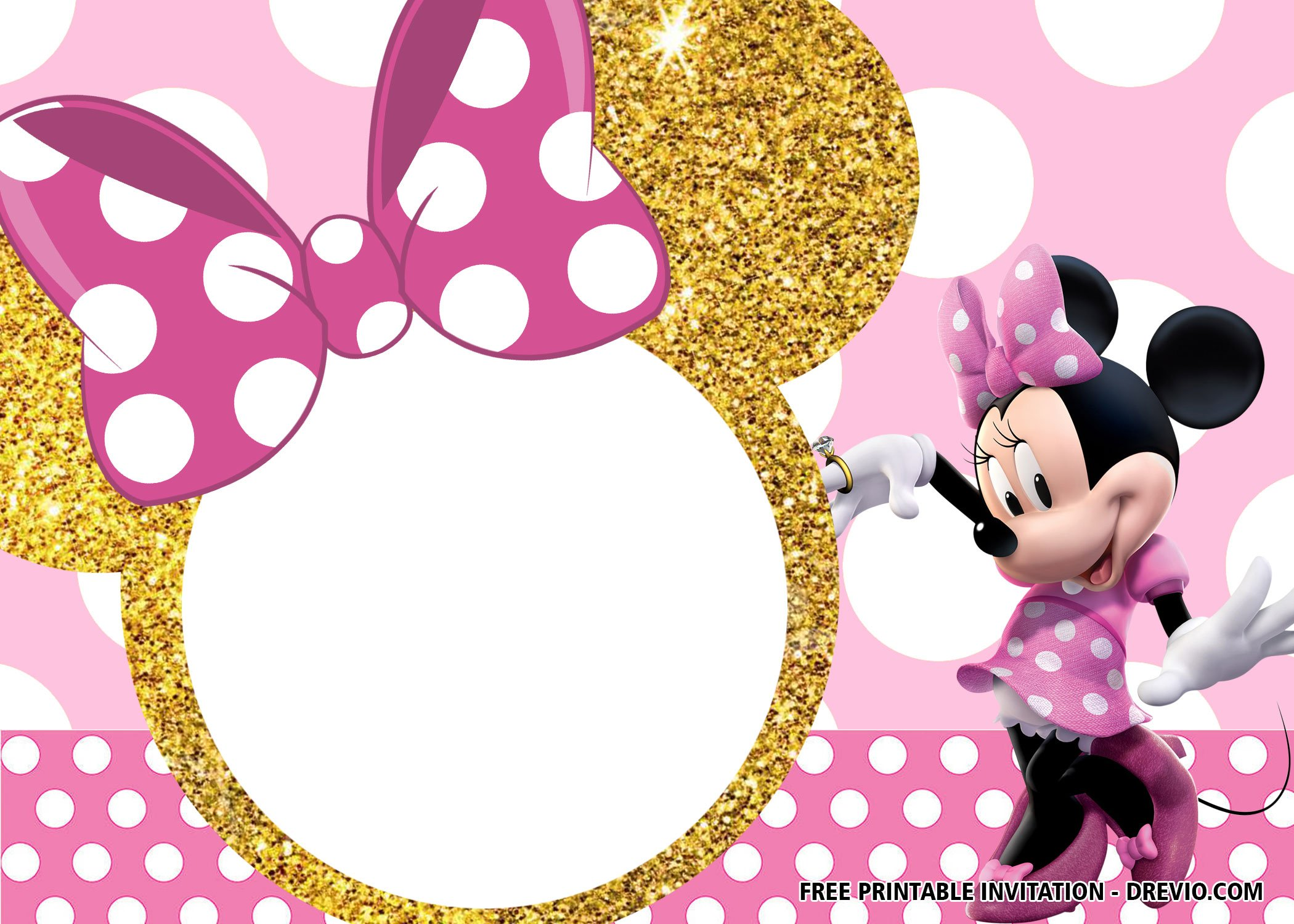 free pink and gold minnie mouse