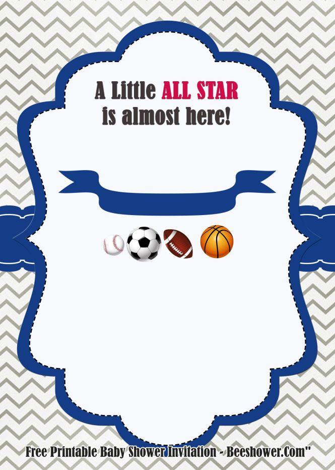 Free Little All Stars Invitation Templates Printable