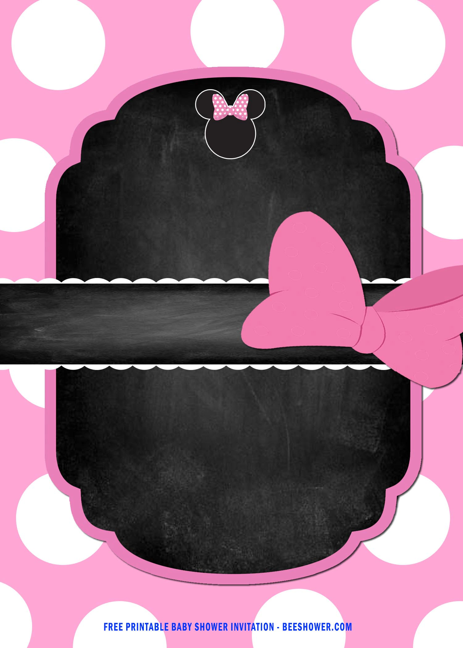 free printable minnie mouse baby shower