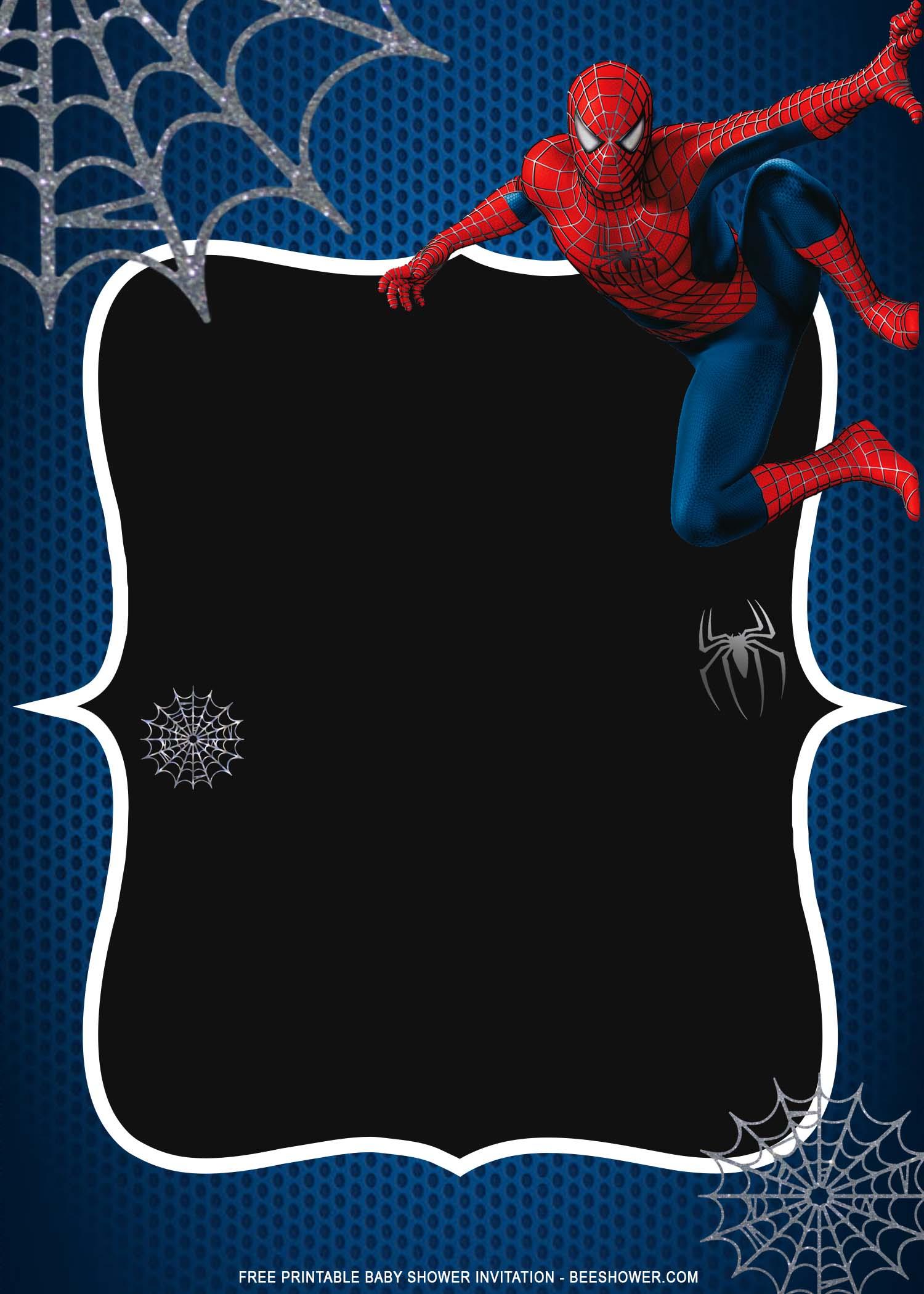 free printable spiderman baby shower