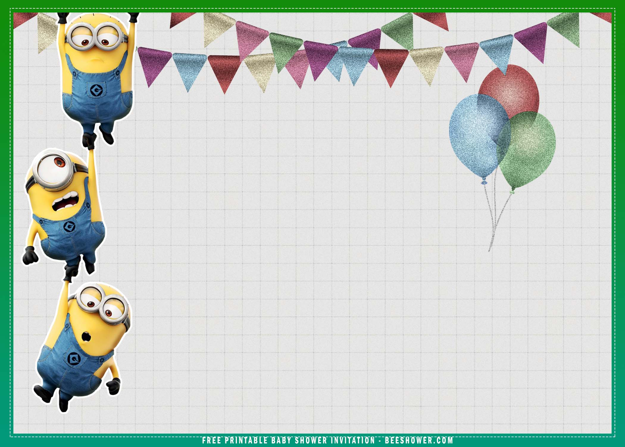 minion despicable me baby shower