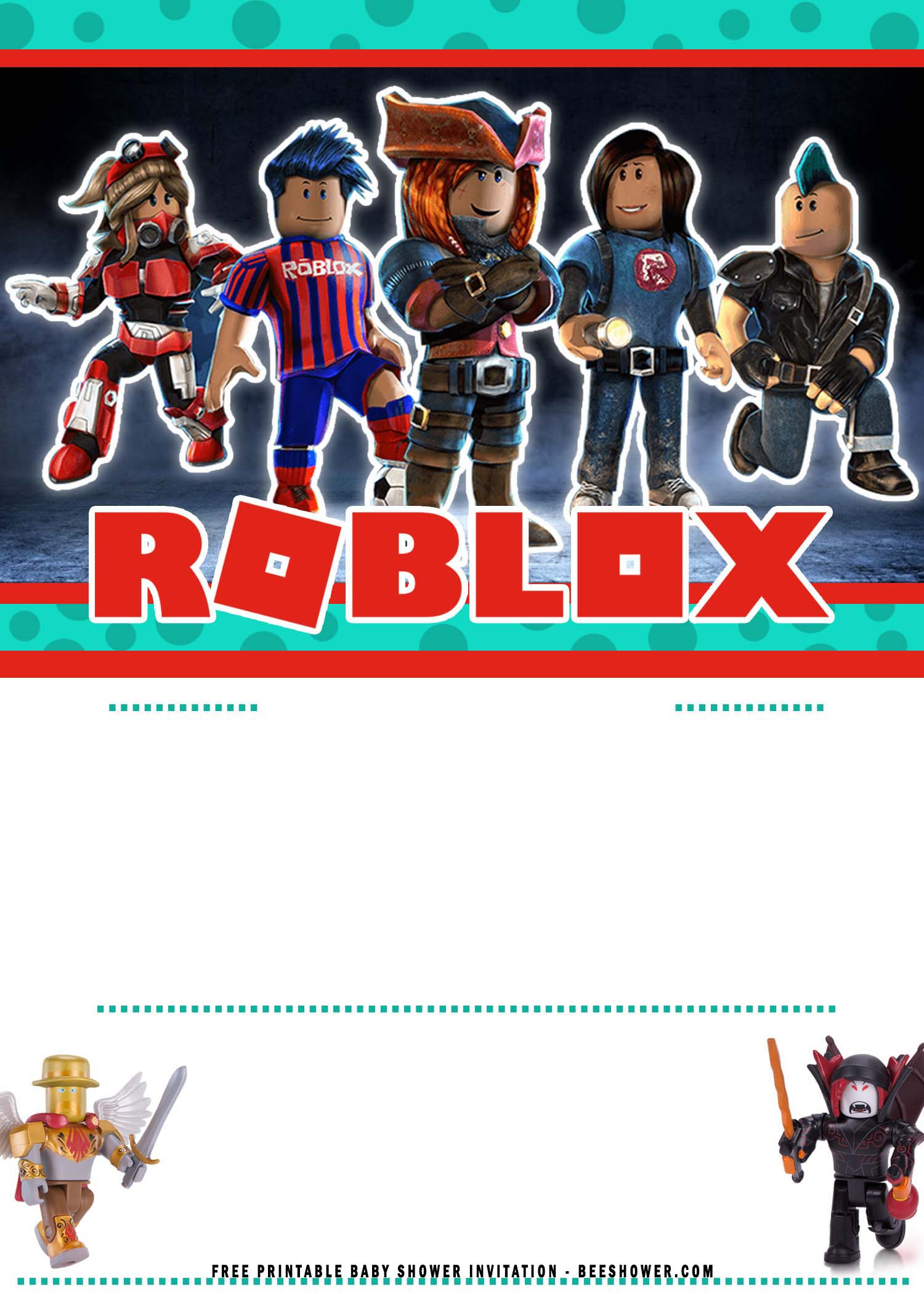 roblox baby shower invitation templates