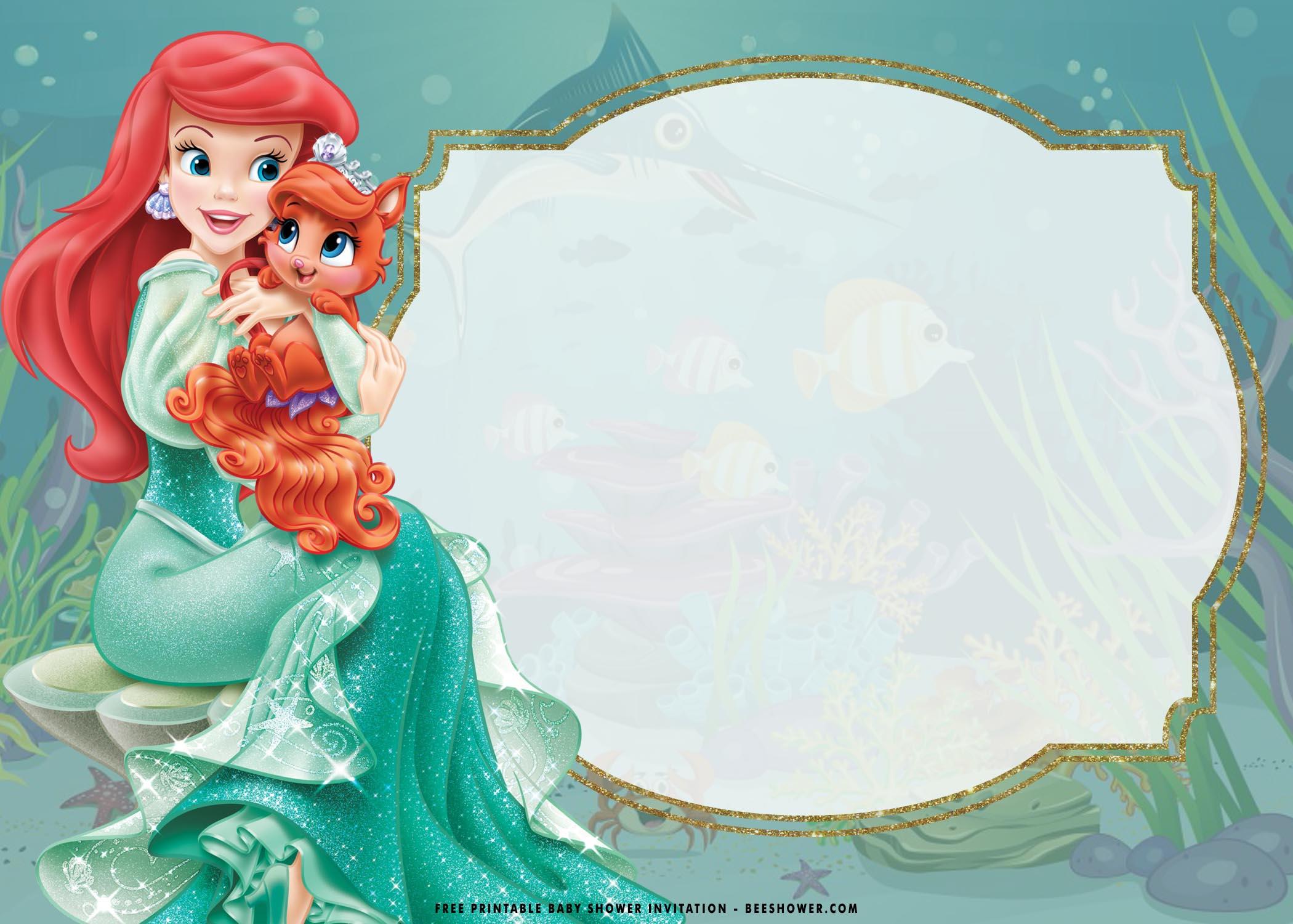 little mermaid invitation templates