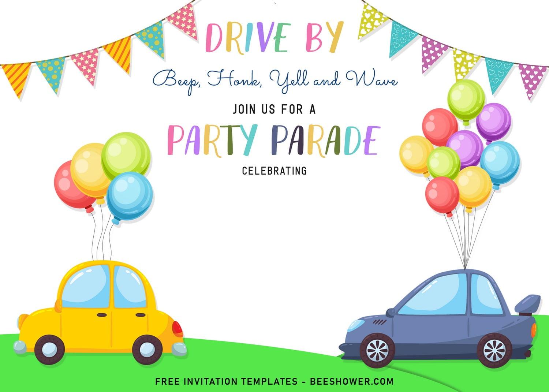 parade birthday invitation templates
