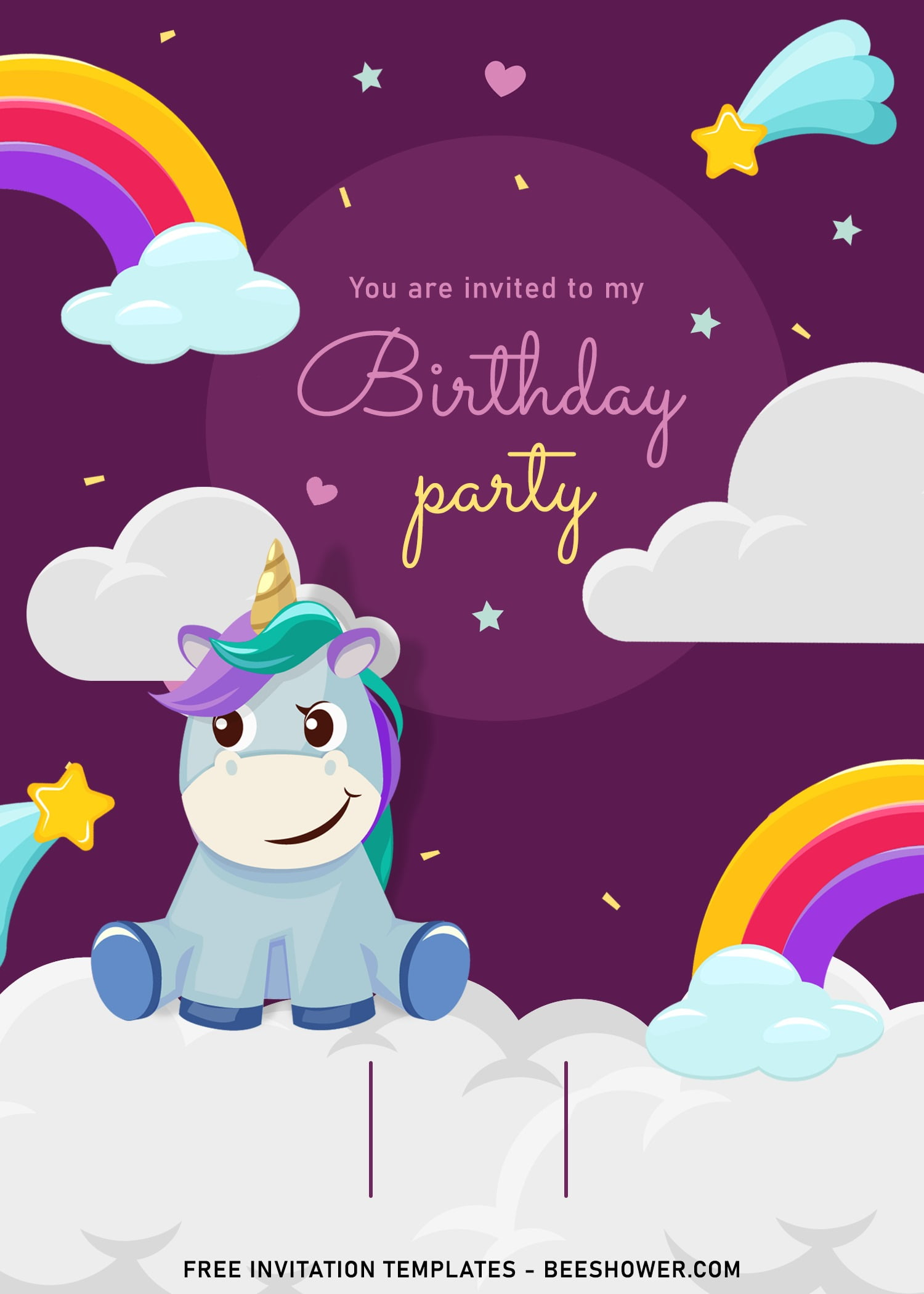 7 magical rainbow unicorn birthday