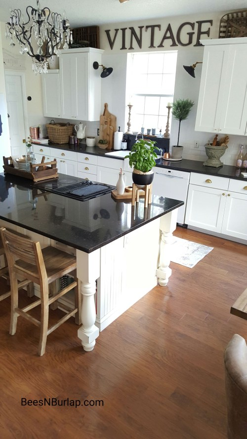 white kitchen one room challenge farmhouse industrial vintage