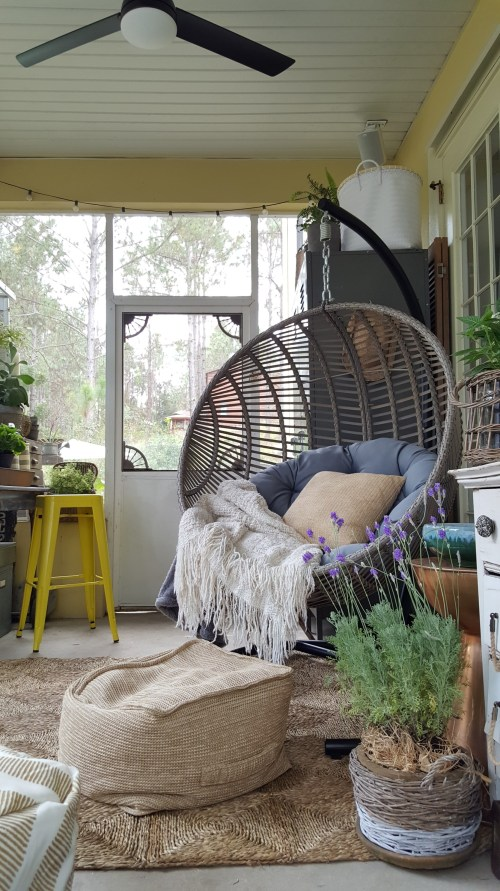 ORC Vintage Eclectic Farmhouse Rustic Reveal DIY Makeover Swing Chair