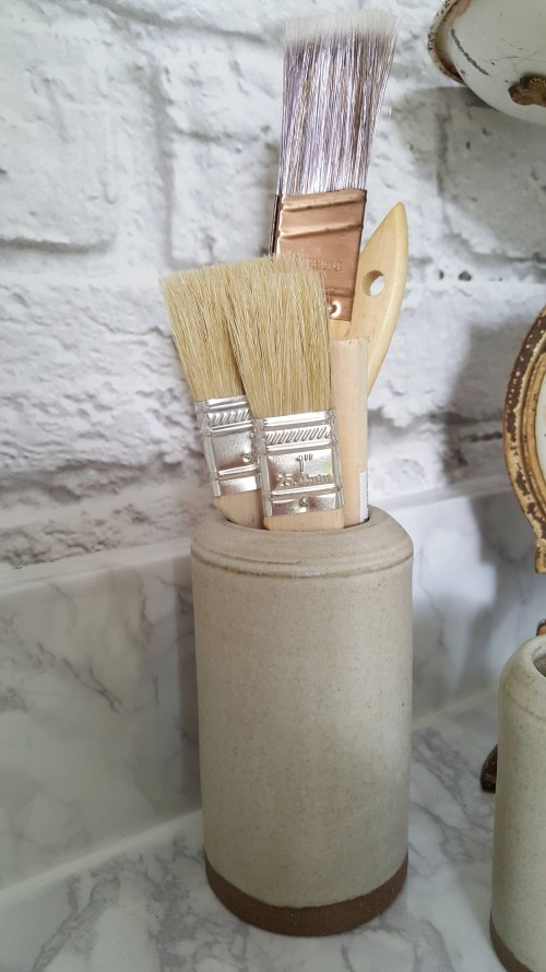 One Room Challenge Urban Industrial Vintage Laundry Room Open Shelving Gold Basket Mirror White Brick White Marble Decor Modern Farmhouse Boho Style