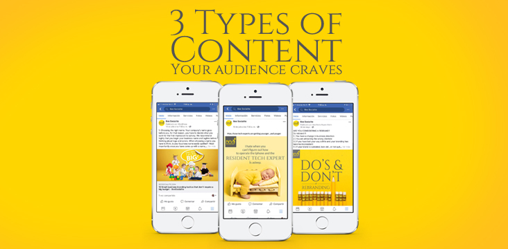3 Types of Content your Audience Craves