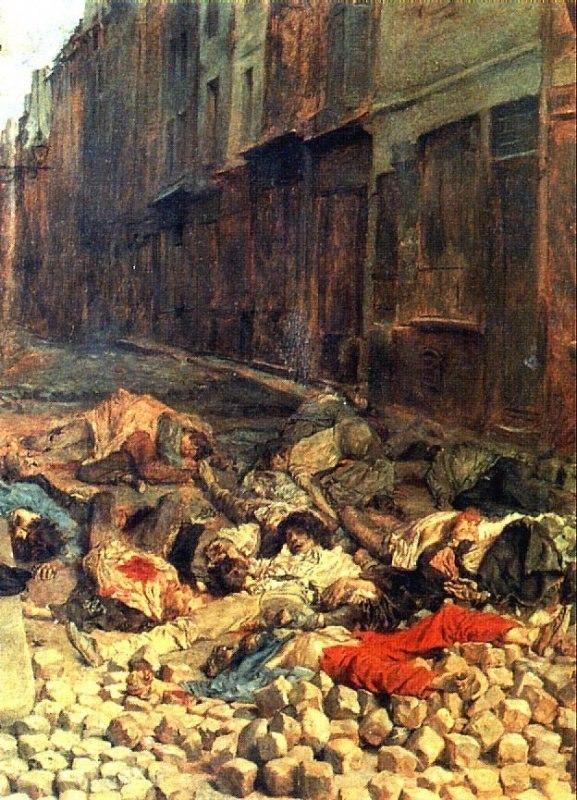 ЭРНЕСТ МЕСОНЬЕ. Баррикада, улица Мортеллери, июнь 1848 г ...
