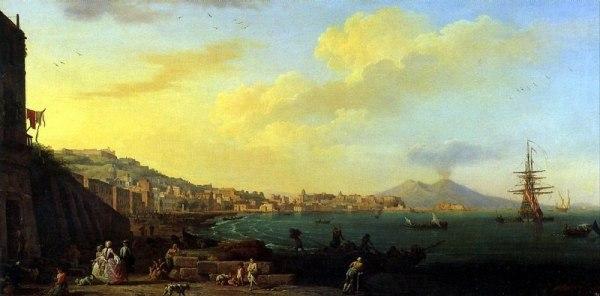 КЛОД ЖОЗЕФ ВЕРНЕ. Вид Неаполя с Везувием. ~ картины Лувра ...