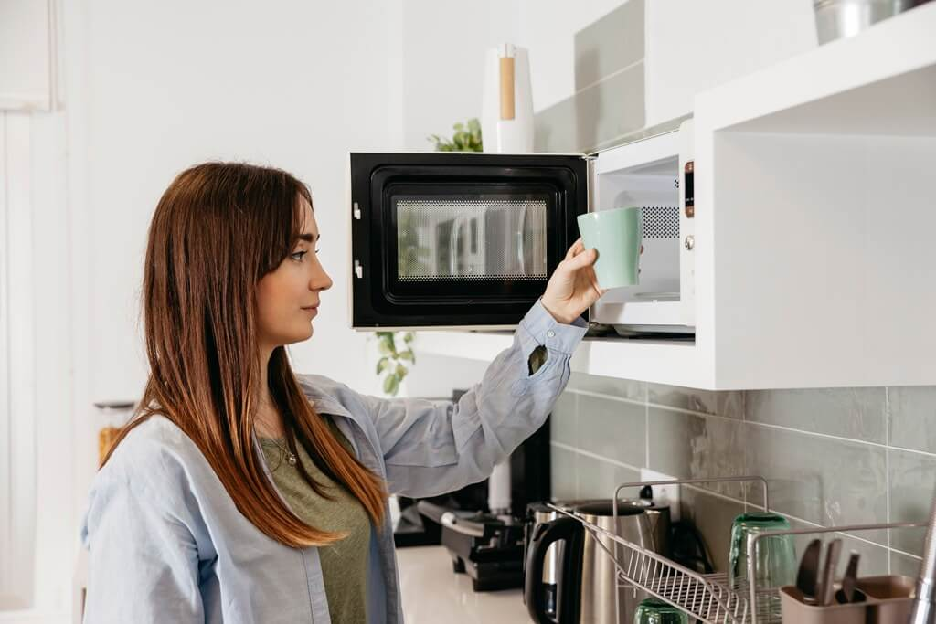 place the microwave in your kitchen in