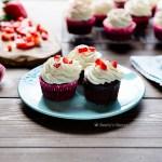 moist chocolate einkorn cupcakes