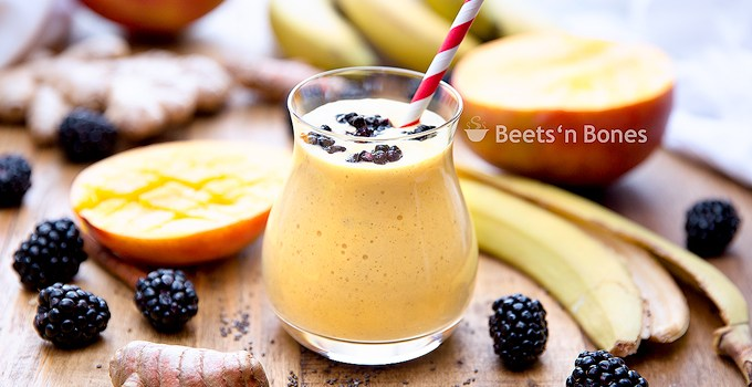 Probiotic Turmeric Mango Smoothie