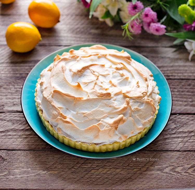 lemon merengue tart with einkorn crust