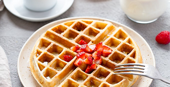 Crispy Waffles {perfect with whole grain flour}