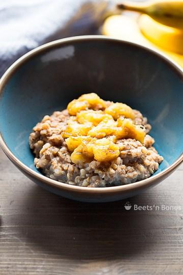 coconut buckwheat chai porridge