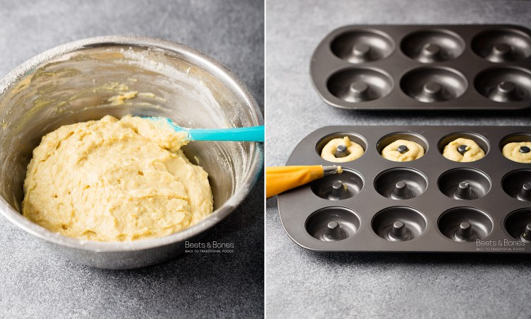 lemon donut with einkorn flour