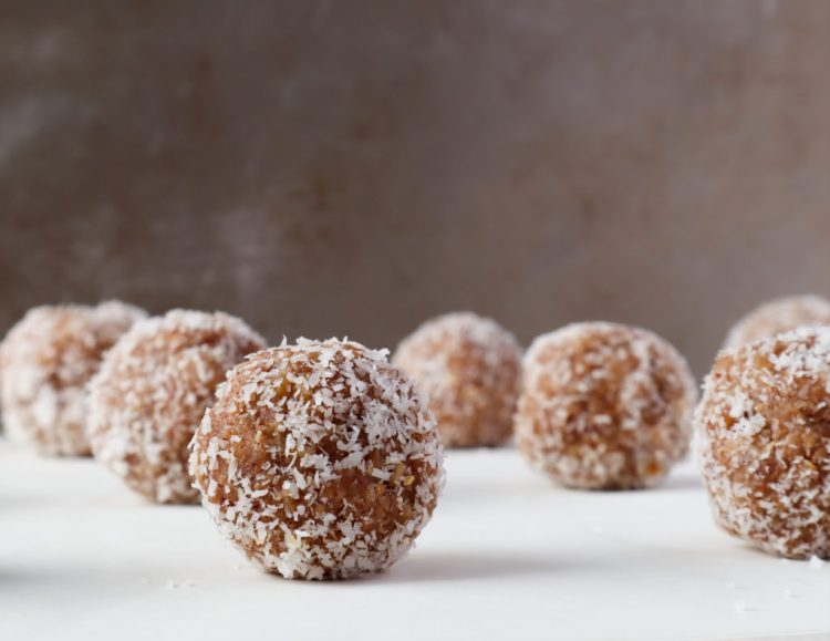 coconut apricot energy balls