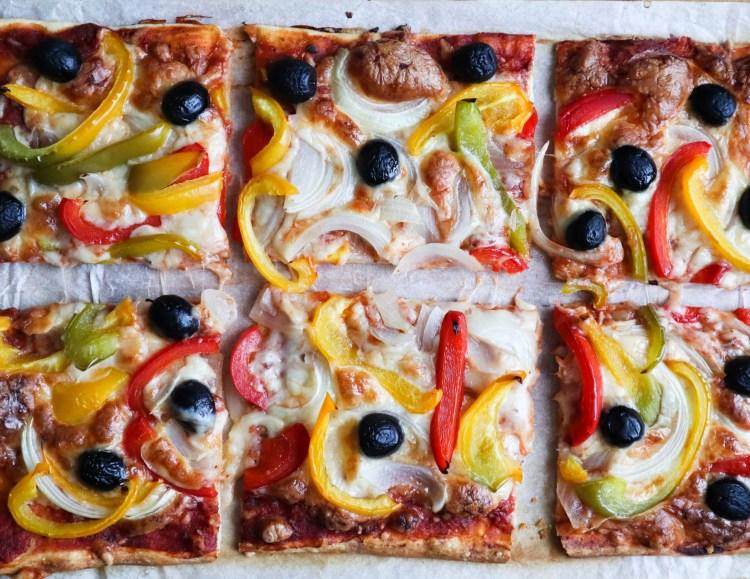SEMI-HOMEMADE VEGETARIAN PIZZA