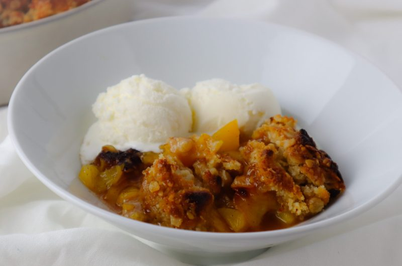 Canned Peach Winter Crumble
