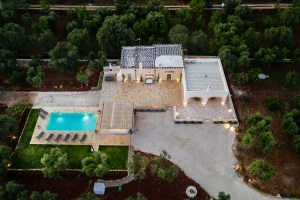 Aerial view vacation villa in puglia