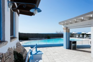 Large Pool Aerial of Quiet and Luxury Villa close to beach