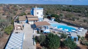 Aerial of Quiet and Luxury Villain Puglia