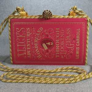 Alice Adventures in Wonderland Vintage Book Purse