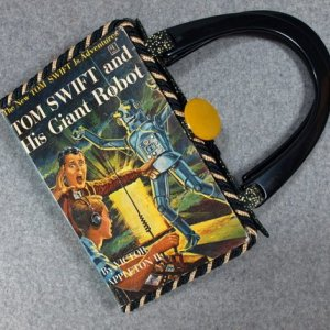 Tom Swift and His Gaint Robot Vintage Book Hand Purse