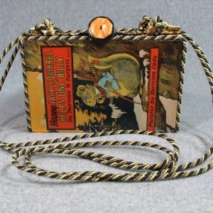Happy Jack Squirrel Helps UNC'Billy Vintage Book Shoulder Purse
