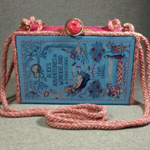 Alice's Adventures in Wonderland Vintage Book Shoulder Purse