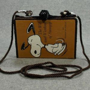 The Wit and Wisdom of Snoopy  Vintage Book Phone Purse