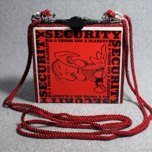 Security is a Thumb and a Blanket Vintage Book Purse