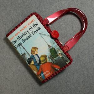 Nancy Drew The Mystery of The Brass Bound Trunk Vintage Book Hand Purse
