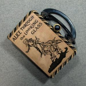 Alice Through the Looking Glass Vintage Book Hand Purse