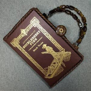 Adventures of Huckleberry Finn Vintage Book Hand Purse