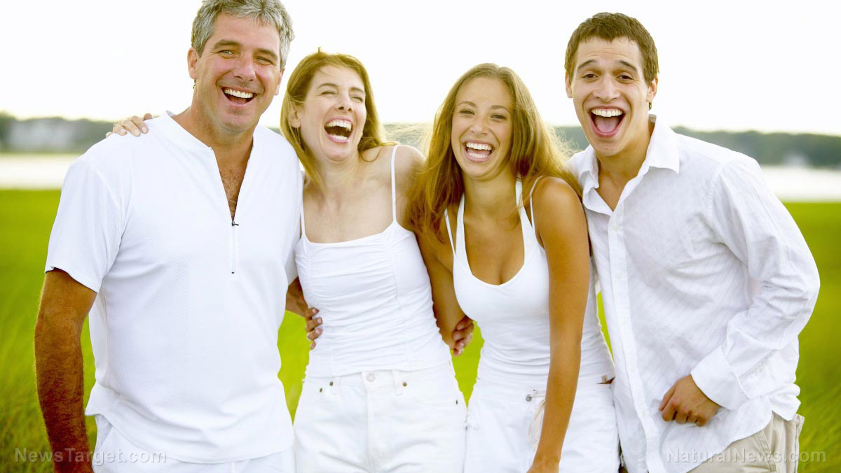 happy people family laughing
