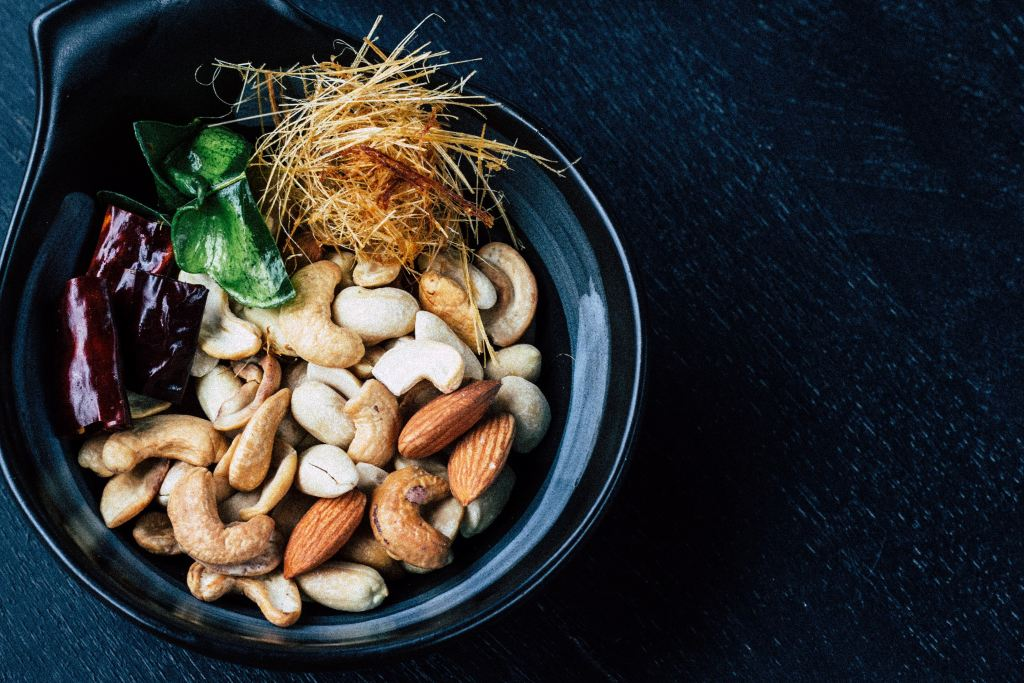Nuts in a bowl.