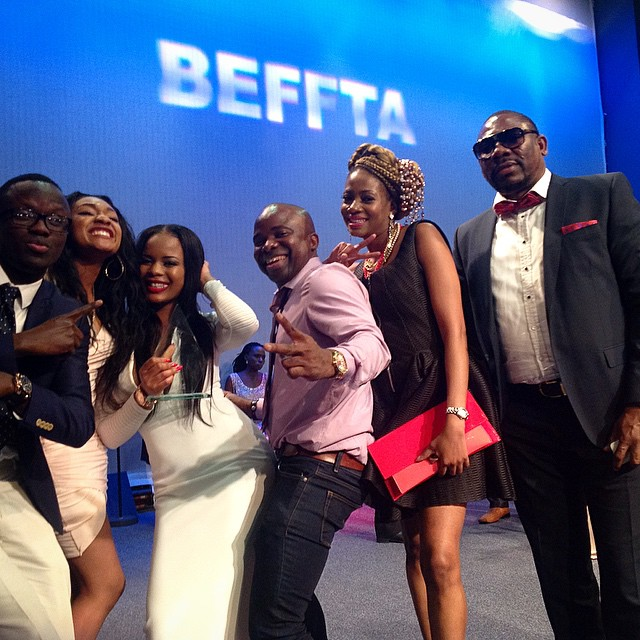CVTV- Network Crew celebrating their BEFFTA win on stage