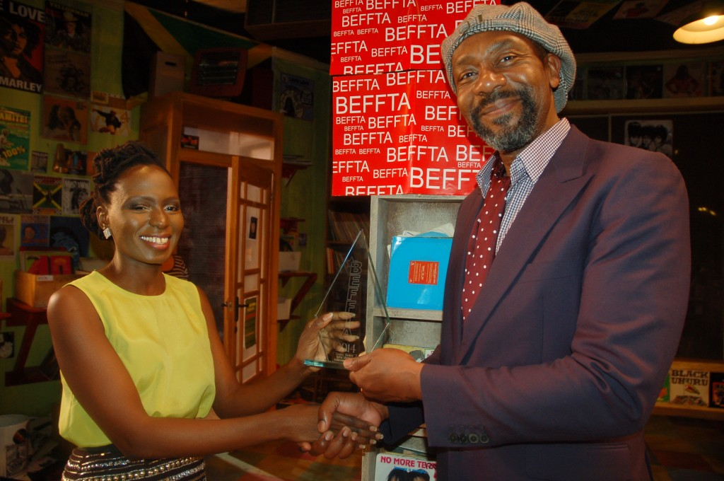 Pauline Long presents BEFFTA Lifetime Achievement Award to Sir Lenny Henry