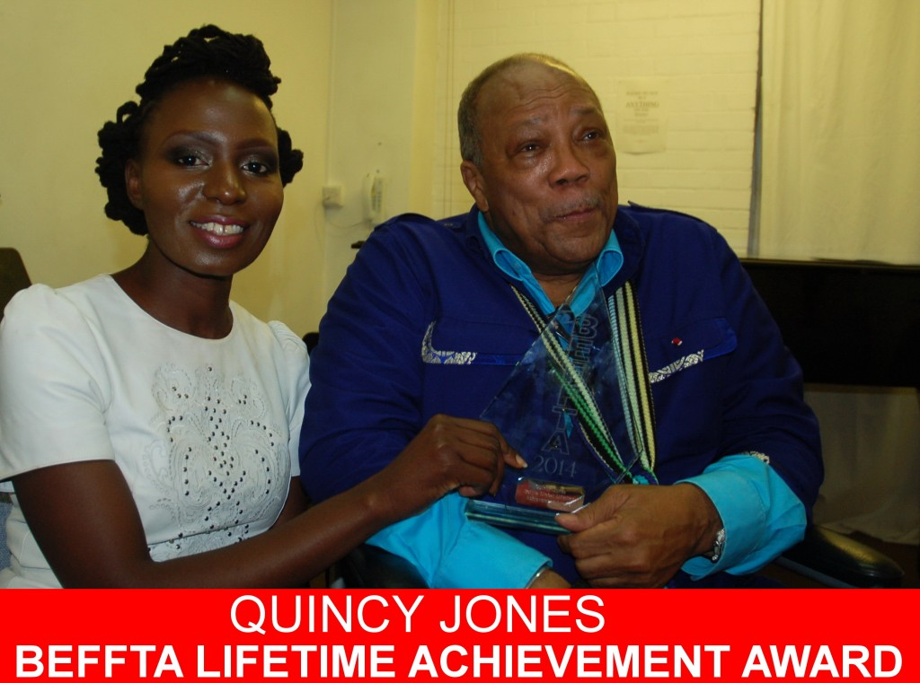 Music Mogul and Legend Quincy Jones receives BEFFTA