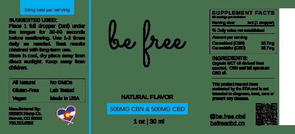 CBN Tincture label