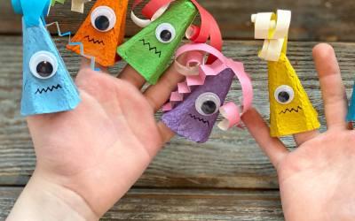 DIY Monster Finger Puppets
