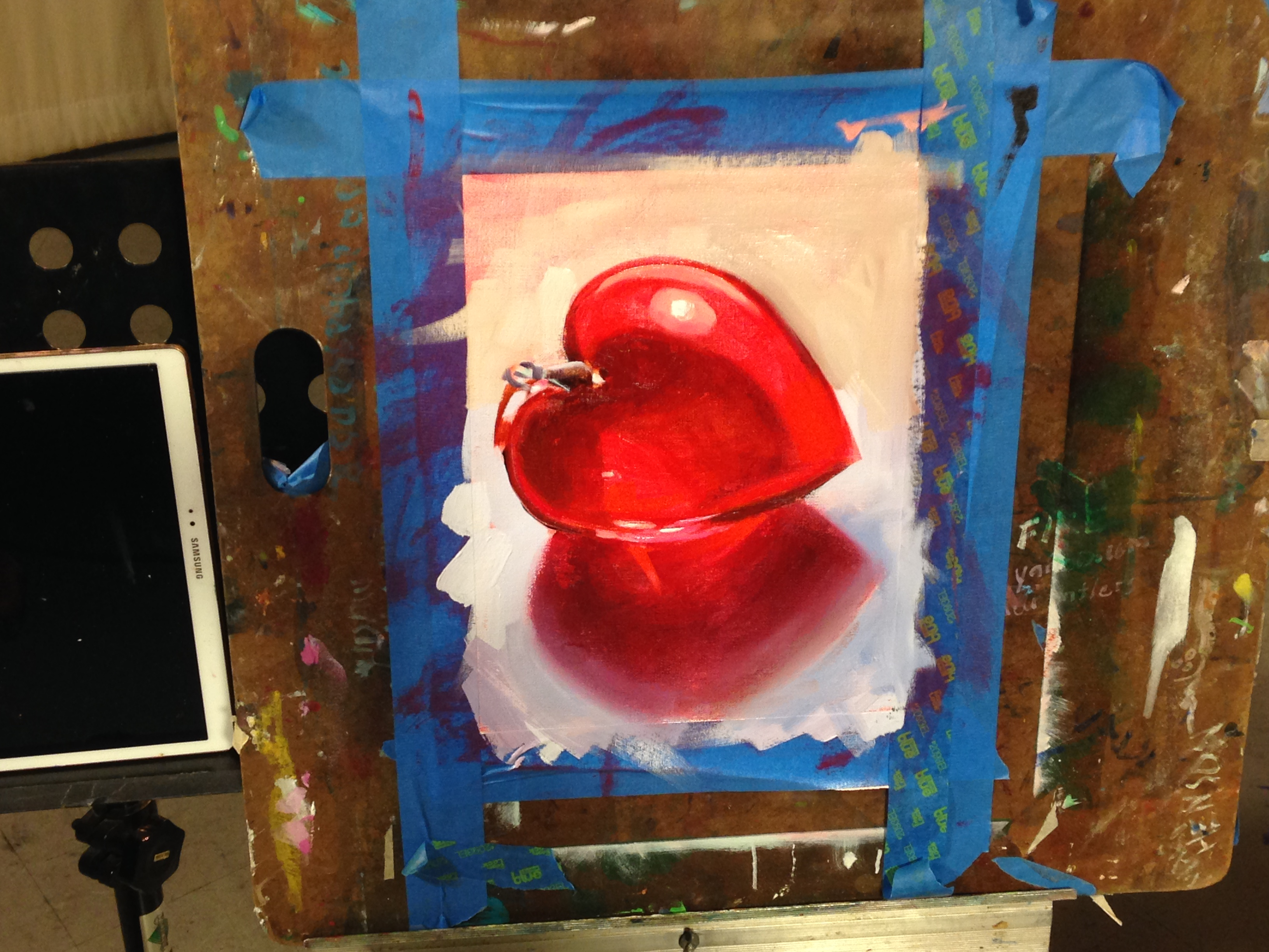 Oil Painting Exercise One Glass Heart