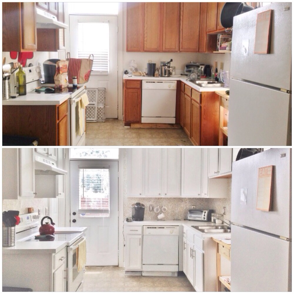 Kitchen Updates Before And After: Before And After: A $387 Budget Kitchen Update