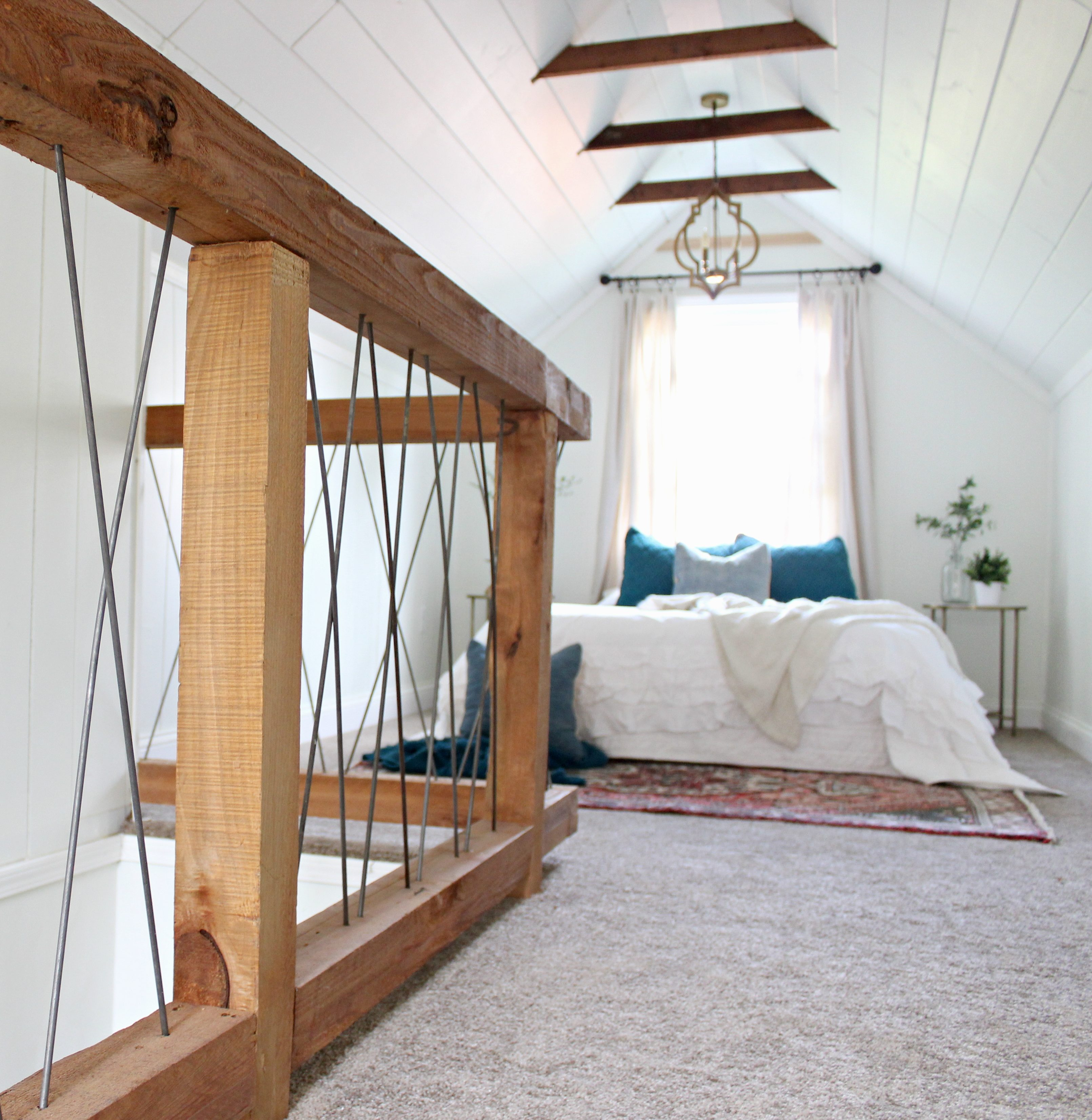 Chesterfield Cottage Reveal: Part 2 Attic Bedroom & Chesterfield Cottage Reveal: Part 2 Attic Bedroom | Beginning in ...